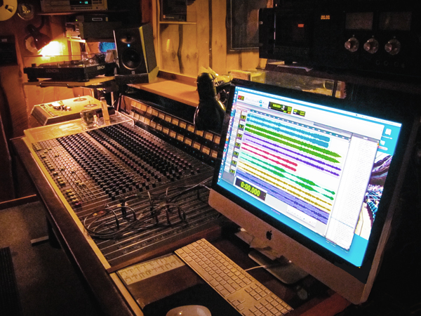 Console and Pro Tools workstation